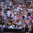 Big Alo, Serena Williams et Bob Sinclar lors de la journée des enfants à Roland Garros le 26 mai 2012 à Paris