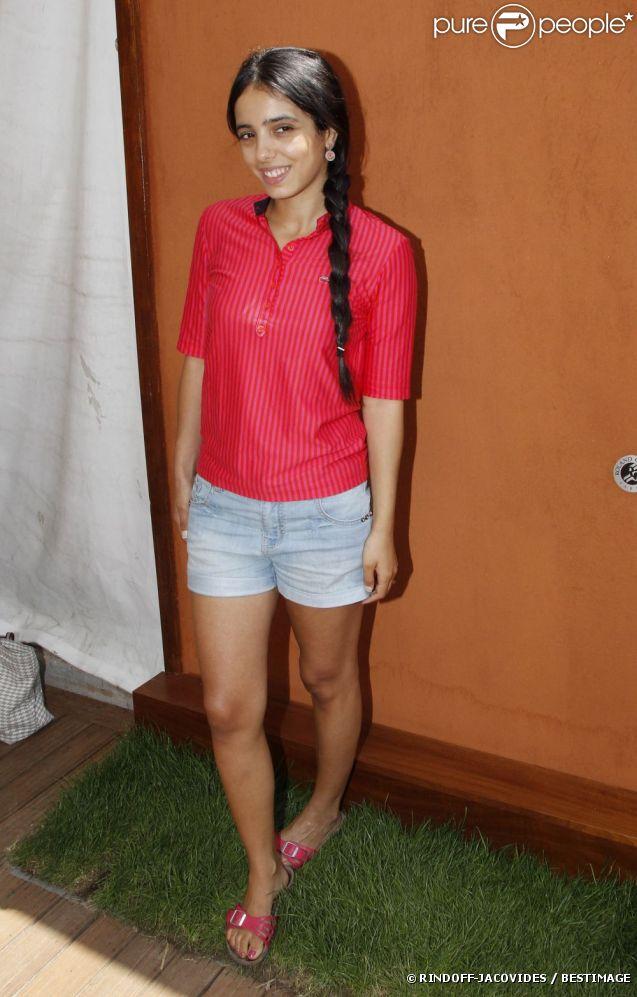Hafsia Herzi lors du 7e jour du tournoi de Roland-Garros, le samedi 2 juin 2012.