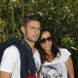 Olivier Giroud et sa compagne Jennifer lors du 7e jour du tournoi de Roland-Garros, le samedi 2 juin 2012.
