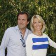 Christophe Lambert et sa femme Marie Sara  lors du 7e jour du tournoi de Roland-Garros, le samedi 2 juin 2012.