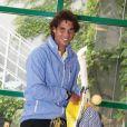 Rafael Nadal fête son anniversaire à Roland-Garros le 3 juin 2012 en compagnie des journalistes