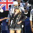Kylie Minogue royalement sexy pour l'Union Jack et la reine Elizabeth II.    La reine Elizabeth II a pu compter sur le meilleur des artistes du royaume, réunis par le Take That Gary Barlow, pour faire vibrer son jubilé de diamant lors du concert donné à Buckingham Palace le 4 juin 2012.