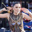 Jessie J sur la scène de Buckingham.   La reine Elizabeth II a pu compter sur le meilleur des artistes du royaume, réunis par le Take That Gary Barlow, pour faire vibrer son jubilé de diamant lors du concert donné à Buckingham Palace le 4 juin 2012.