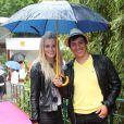 Taïg Khris et sa compagne le 7 juin 2012 à Roland-Garros lors des demi-finales féminines du tournoi