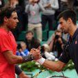 Rafael Nadal lors de sa septième victoire en finale de Roland-Garros le 10 juin 2012 après sa victoire face à Novak Djokovic