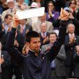 Novak Djokovic après avoir été battu en finale de Roland-Garros par Rafael Nadal le 10 juin 2012