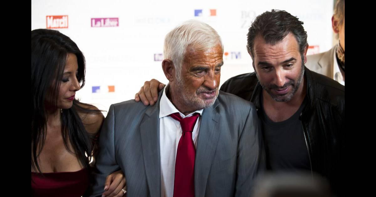 Jean dujardin jean paul belmondo et barbara gandolfi au for Dujardin belmondo
