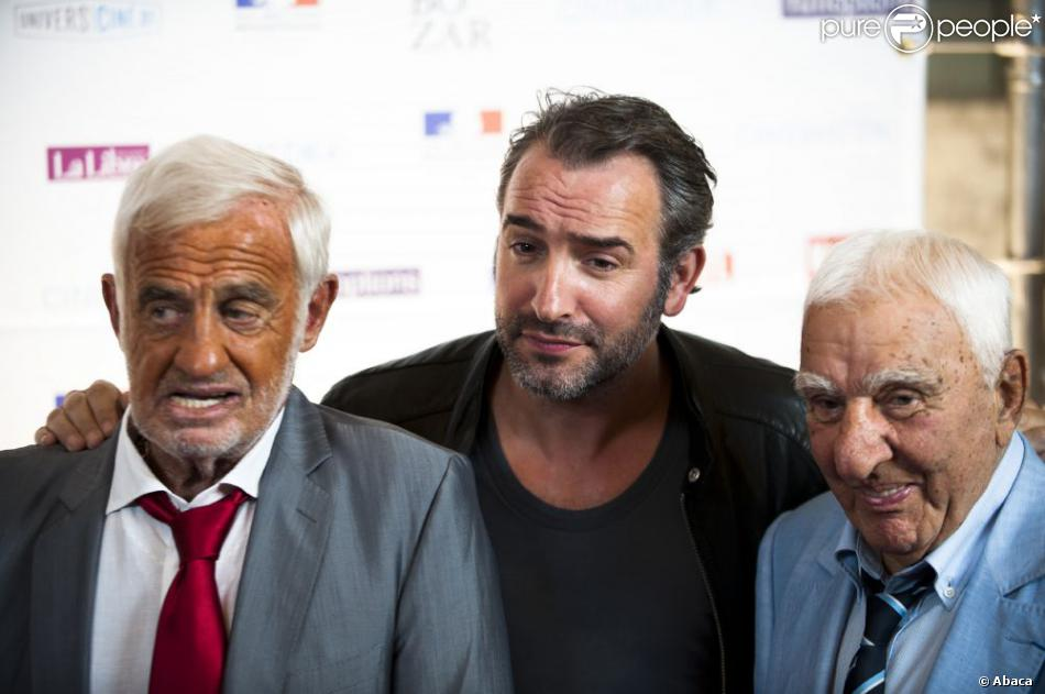 Jean dujardin jean paul belmondo et charles g rard au for Dujardin belmondo