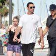 Hugh Jackman passe des vacances ensoleillées en famille à Barcelone. Le 20 juin 2012.