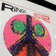 Quelques oeuvres de Ringo Starr au vernissage de son exposition à la Pop International Galleries de New York, le 25 juin 2012.
