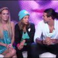 Emilie, Audrey et Midou dans le confessional dans Secret Story 6, vendredi 29 juin 2012 sur TF1
