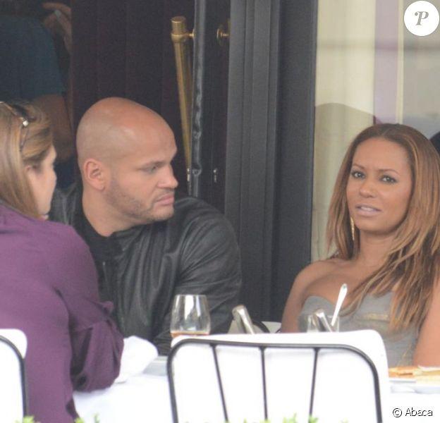 Mel B et son mari Stephen Belafonte à Paris le 3 juillet 2012