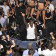 Djibrill Cissé lors d'une soirée au  Vip Room  de Saint-Tropez le week-end du 7 et 8 juillet 2012