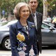 La reine Sofia au 10e anniversaire, à Barcelone, de la Commission de protection des droits des animaux, le 11 juillet 2012.