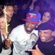 50 Cent fête ses 37 ans au Vendôme à Paris le 9 juillet 2012