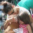 Katie Holmes, sa fille Suri et sa mère Kathleen se sont rendues au zoo de New York, le 11 juillet 2012