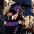 Un sosie de Madonna à la sortie du Ritz, le 11 juillet 2012.
