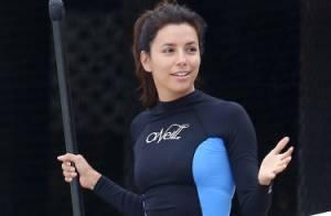 Eva Longoria : Souriante et naturelle en bikini pour une séance de paddleboard