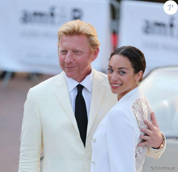 Boris Becker et sa femme Lilly Kerssenberg en mai 2012 lors du gala de l'amfAR.