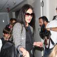 Catherine Zeta-Jones et ses enfants Dylan et Carys arrivent à l'aéroport de New York, le 16 juillet 2012