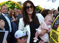 Mark Cavendish victorieux devant Peta Todd et leur fille sur le Tour de France