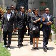 Tito, Jermaine, Janet et Randy Jackson à Los Angeles, le 25 juin 2012. Tito s'est désolidarisé de ses frères et soeurs qui veulent faire annuler le testament de Michael.