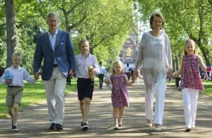 Philippe et Mathilde de Belgique avec leurs enfants en touristes à Londres
