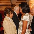 Michelle Obama à Buckingham Palace avant la cérémonie d'ouverture des jeux olympiques de Londres, le vendredi 27 juillet 2012.