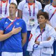 Alain Bernard et Coralie Balmy ont assisté en couple au triomphe du relais 4x100m nage libre lors des Jeux olympiques de Londres le 29 juillet 2012