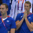 Alain Bernard et Coralie Balmy ont assisté au triomphe du relais 4x100m nage libre lors des Jeux olympiques de Londres le 29 juillet 2012