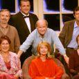 Gérard Rinaldi avec ses partenaires lors du filage de la pièce  Remue-Ménage  en 2003