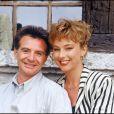 Gérard Rinaldi et Julie Arnold, sa partenaire dans  Marc et Sophie , en 1988