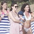 EXCLU - Jennifer Garner, Ben Affleck et leurs enfants Violet, Seraphina et Samuel en vacances sur une plage de Puerto Rico le 15 juillet 2012