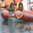 Victoria, 11 ans, fille de l'infante Elena d'Espagne à l'école de voile de Palma de Majorque le 3 août 2012.