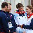 Kate Middleton était le 6 août 2012 à Weymouth dans la Manche lors de la  medal race  de la compétition de voile catégorie Laser, dans laquelle étaient engagés le Britannique Paul Goodison chez les hommes et l'Irlandaise Annalise Murphy chez les femmes.