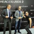 Dolph Lundgren, Jason Statham et Jean-Claude Van Damme à l'avant-première d' Expendables 2  à Madrid, le 8 août 2012.