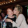 Régine et Grace de Capitani lors de la soirée organisée par Marcel Campion à Saint-Tropez en août