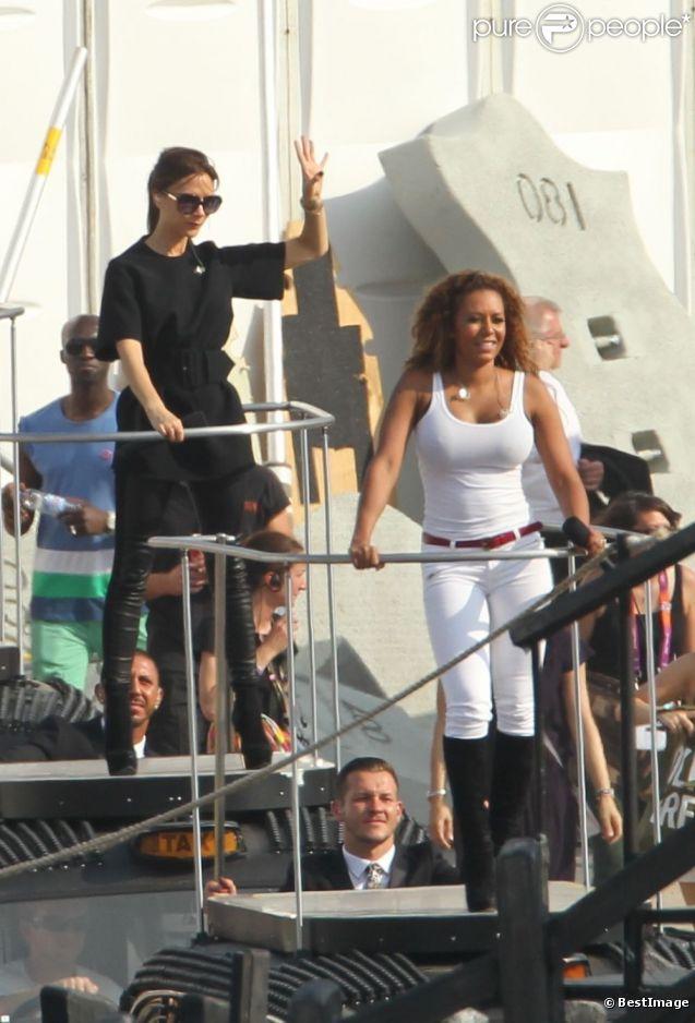 Victoria Beckham et Mel B en répétitions dans le plus grand secret pour leur show prévu lors de la cérémonie de clôture des Jeux olympiques. Le 9 août 2012