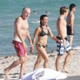 Très famille, Tobin Bell en vacances à Miami le 9 août 2012