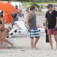 Tobin Bell en vacances en famille à Miami le 9 août 2012