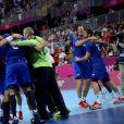 Grâce notamment à un Thierry Omeyer fantastique, et à un impressionnant volume défensif constant, les handballeurs français ont dominé la Croatie (25-21) vendredi 10 août 2012 en demi-finale du tournoi olympique, aux JO de Londres.
