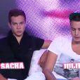 Sacha et Julien dans la quotidienne de Secret Story 6 le mercredi 16 août 2012 sur TF1
