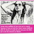Le magazine  Closer  du samedi 9 juin 2012 révèle une photo coquine de Capucine.