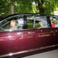 La reine Elizabeth II après un service religieux à Crathie Kirk non loin de Balmoral le 19 août 2012