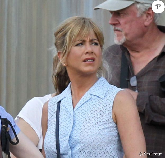 Jennifer Aniston est une strip-teaseuse dans la comédie We're the Millers, en Caroline du nord. Août 2012.