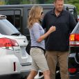 Jennifer Aniston sur le tournage de la comédie  We're the Millers , en Caroline du nord. Août 2012.