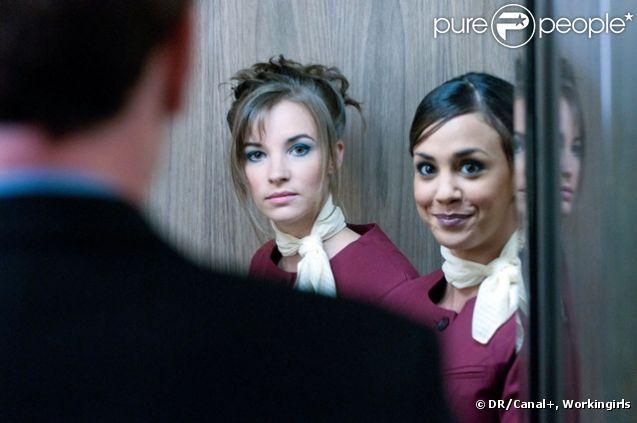 Sophie et Sophie (Alice Belaïdi et Clémence Faure) dans  Workingirls  sur Canal+