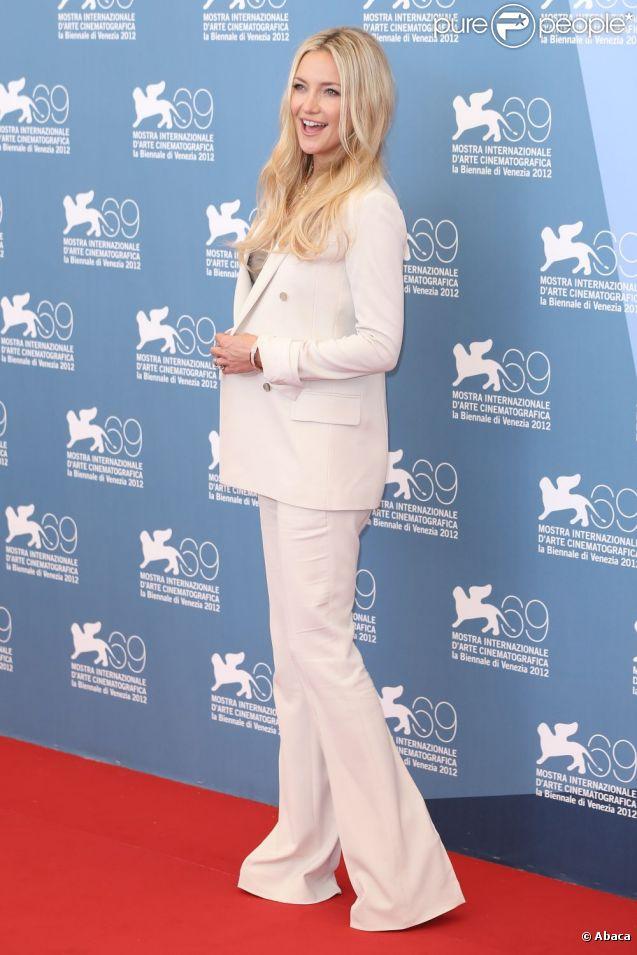 Kate Hudson lors du photocall du film qui fait l'ouverture de la Mostra de Venise, The Reluctant Fundamentalist (L'Intégriste malgré lui) le 29 août 2012