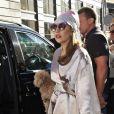 Exclu : Lady Gaga quitte son hôtel de Copenhague, le 3 septembre 2012.