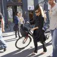 Exclu : balade à vélo pour Lady Gaga dans les rues de Copenhague, le 3 septembre 2012.